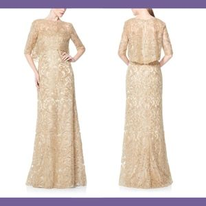 NWT $748 Tadashi Shoji Strapless Gown + Jacket 0